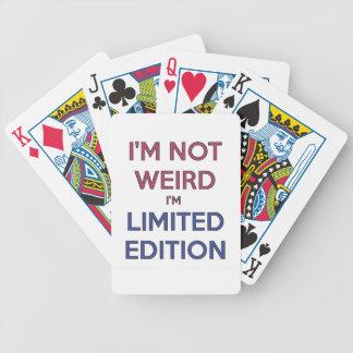 No soy extraño yo soy humor adolescente de la cita baraja de cartas bicycle