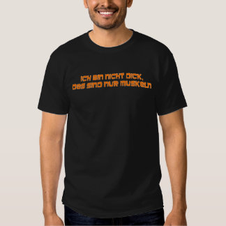 No soy gordo anaranjado camiseta