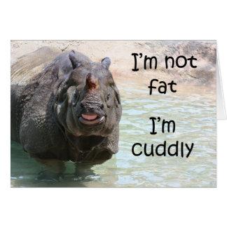 No soy gordo felicitacion