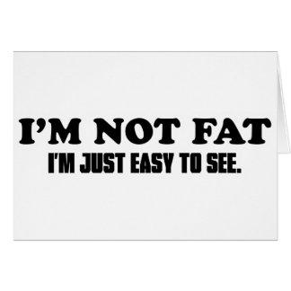 No soy gordo tarjeta de felicitación