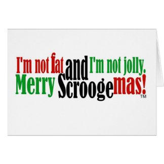 No soy gordo y no soy alegre tarjeta de felicitación