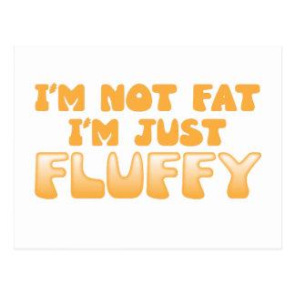 no soy gordo yo soy apenas mullido postal