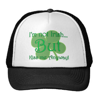 No soy irlandés sino me beso de todos modos gorras de camionero
