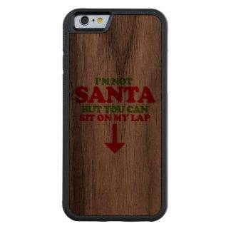 No soy Santa -- Humor del día de fiesta Funda De iPhone 6 Bumper Nogal