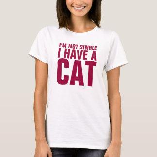 No soy solo yo tengo una camisa divertida del gato