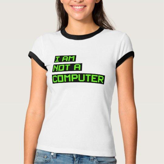 No soy un ordenador camiseta