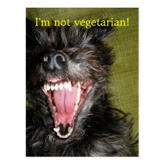 ¡No soy vegetariano! Postal
