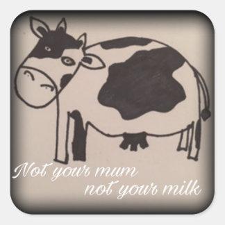 No su momia no su pegatina del vegano de la leche