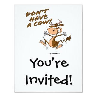 no tenga un dibujo animado chistoso de la vaca de invitaciones personales