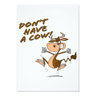 no tenga un dibujo animado chistoso de la vaca de comunicados
