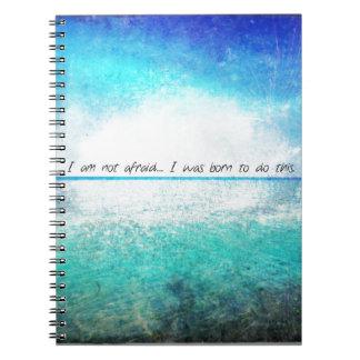 No tengo miedo. Nací hacer a esta JUANA DE ARCO Cuaderno