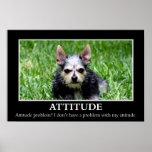 No tengo un problema de la actitud (l) poster