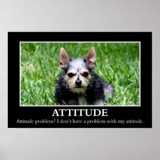 No tengo un problema de la actitud (l) póster