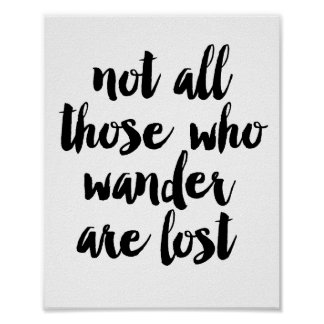 No todo el pierden los que vagan póster