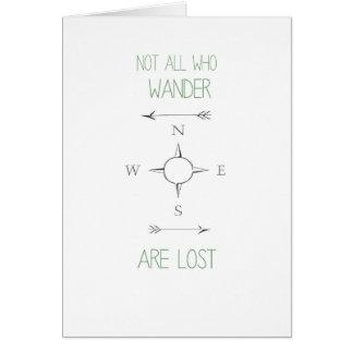 No todos que Wander es tarjeta perdida
