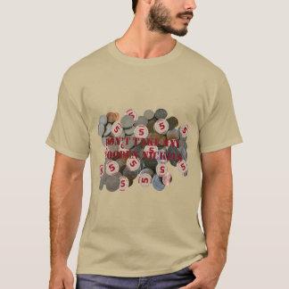 No tome a ninguna níqueles de madera la camiseta
