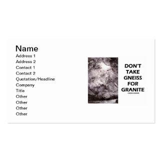 No tome el gneis para el granito (el humor de la g plantilla de tarjeta de visita