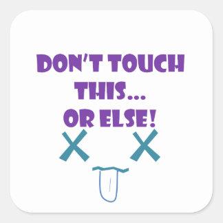No toque o bien pegatina cuadradas personalizadas