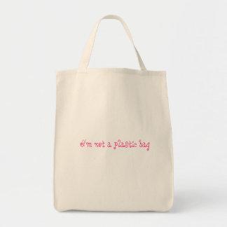 No un bolso de ultramarinos plástico bolsa tela para la compra
