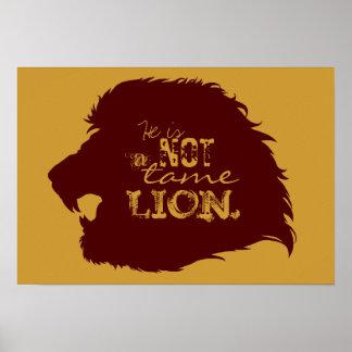 No un poster doméstico del león póster