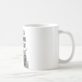 No una taza de la persona de la taza de la mañana