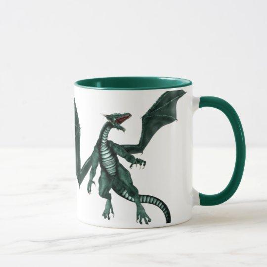 No una taza del dragón de la persona de la mañana