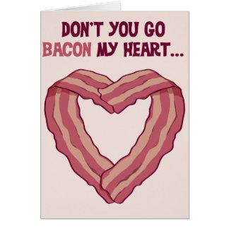 No va el TOCINO mi corazón - tarjeta romántica