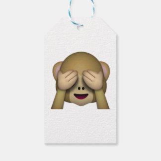 No vea ningún mono malvado - Emoji Etiquetas Para Regalos