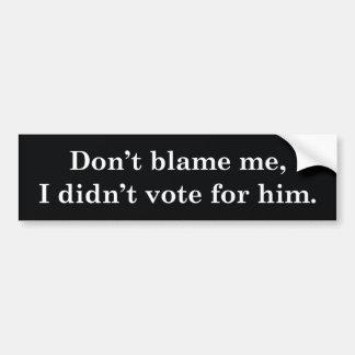 No voté por él pegatina para coche