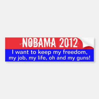 Nobama 2012 - guarde la libertad pegatina para coche