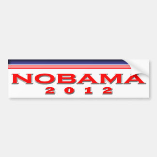 Nobama 2012 pegatina de parachoque