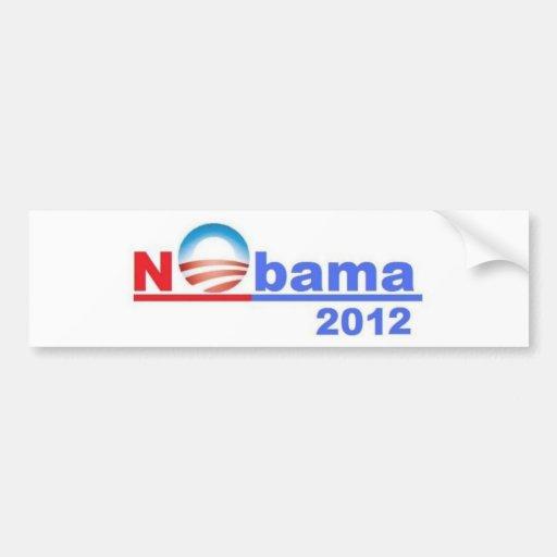 Nobama - ningún Obama 2012 Etiqueta De Parachoque