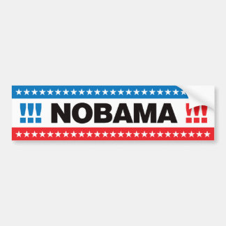 ¡Nobama! Etiqueta De Parachoque