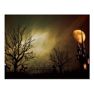 Noche asustadiza de Halloween Postal