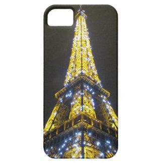 noche brillante de Eiffel iPhone 5 Cárcasa