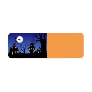 Noche de Halloween Etiqueta De Remite