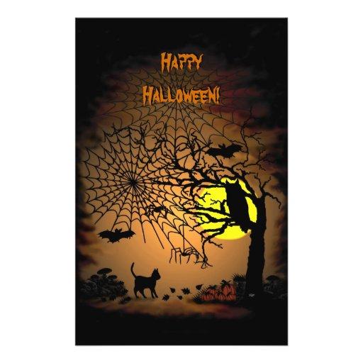 ¡Noche de Halloween, feliz Halloween! Tarjetones