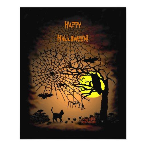 ¡Noche de Halloween, feliz Halloween! Flyer Personalizado