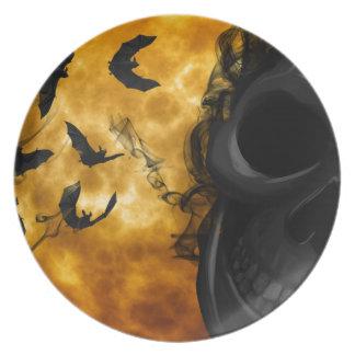 Noche de Halloween Plato Para Fiesta