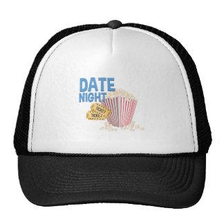 Noche de la fecha gorras de camionero