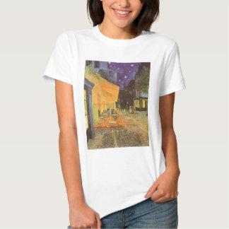 Noche de la terraza del café, impresionismo del camiseta
