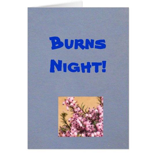 ¡Noche de las quemaduras! Tarjeta