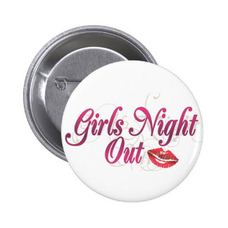 Noche de los chicas hacia fuera chapa redonda 5 cm