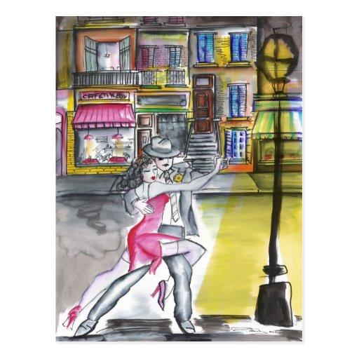 Noche de San Telmo - tango Tarjetas Postales
