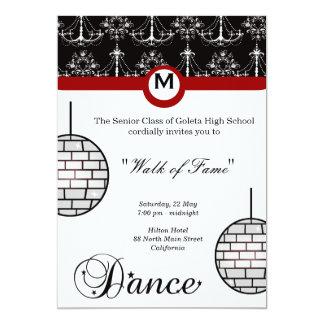 Noche del baile de fin de curso invitación personalizada