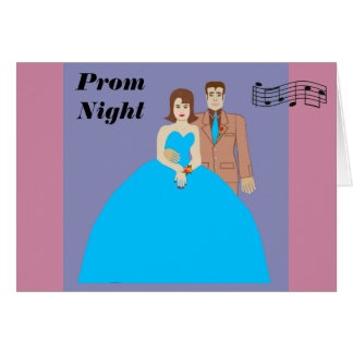 Noche del baile de fin de curso tarjeta de felicitación