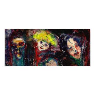 NOCHE del CARNAVAL EN las máscaras venecianas de Invitación 10,1 X 23,5 Cm