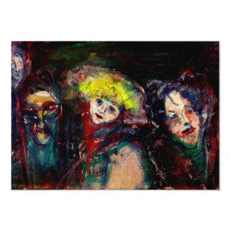 NOCHE del CARNAVAL EN las máscaras venecianas de Invitación 12,7 X 17,8 Cm