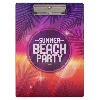 Noche del fiesta de la playa del verano carpeta de pinza
