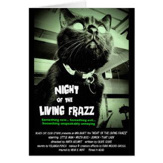 """Noche del Frazz vivo!"" Tarjeta de nota del gato"
